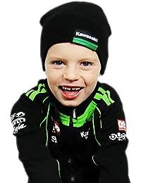 Kawasaki Gorro Para Niños. Woll Gorro. Gorro Negro de bikerworld
