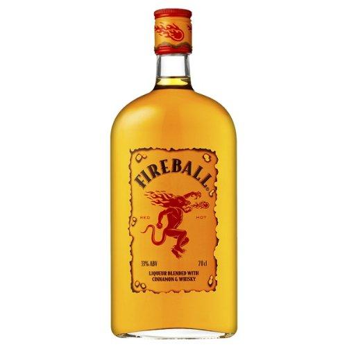 Fireball - Likör gemischt mit Zimt und Whisky 70cl Pack 6 Stück