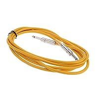Andoer® 3m / 10ft Cable de Guitarra Bass Amplificador Instrumento Cable Profesional 6.35mm Jefe Patch Jack Plug