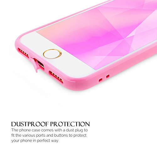 Coque iPhone 7 , Coque Apple 7 , Anfire Etui Souple Flexible en Premium TPU Apple iPhone 7 (4.7 pouces) Ultra Mince Gel Silicone Transparent Clair Housse de Protection Soft Crystal Case Cas Couverture Rose Rouge