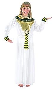 Theme Fancy Dress Disfraz de niña de la Diosa Egipcia Cleopatra. 6-9 años