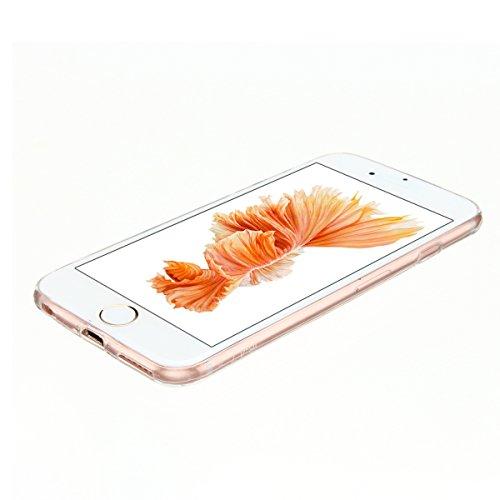 Cover iPhone 6 plus Custodia iPhone 6s plus Silicone Anfire Morbido Flessibile TPU Gel Case Cover per Apple iPhone 6 plus/6s plus (5.5 Pollici) Ultra Sottile Clear Trasparente 3D Copertura Antiurto Bu Panda