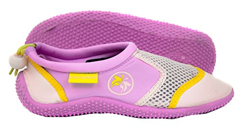 AQUA-SPEED Aquaschuhe - Wasserschuhe Für Strand - Meer - See - Ideale Badeschuhe Als Schutz Für Füsse - #AS14 Violett/Pink/Gelb