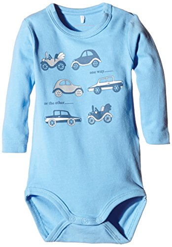Name It - NITJOHAN NB SO LS Body 415, Pigiama per bambini e ragazzi, blu (blau - little boy blue), 3 mesi (56 cm)