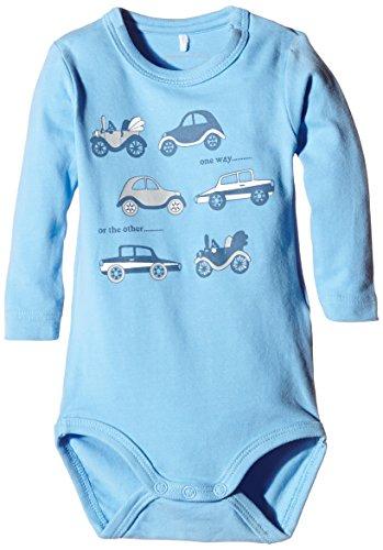 Name It - NITJOHAN NB SO LS Body 415, Pigiama per bambini e ragazzi, blu (blau - little boy blue), 3 mesi (56 cm)