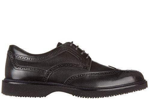 Hogan scarpe stringate classiche uomo in pelle nuove derby h217 route nero EU 42 HXM2170Q4419KXB612