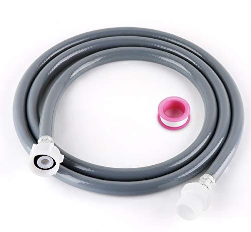 Lemonfilter 2,5 m Zulaufschlauch Verlängerung, für Wasch- und Spülmaschinenschlauch, Kaltwasser-Zulaufschlauch mit 6M PTFE-Band, 3/4 Zoll