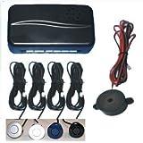Silver Rear Car Parking Reversing with 4 Sensor Buzzer Mini box Kit