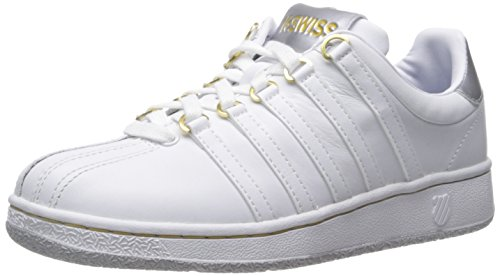 K-Swiss Classic Vn, Baskets Basses Femme Blanc (white/silver/gold)