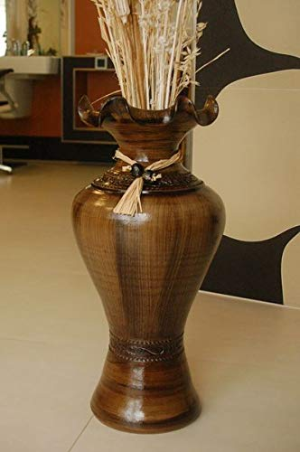 Deko-Shop-Hannusch Edle Bodenvase, Amphore, Vase, Kastanie, 60 cm, aus Tonkeramik