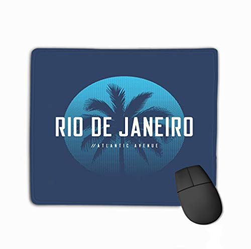 Mouse Pad Rio de Janeiro Atlantic Avenue Apparel Design p Rio de Janeiro Atlantic Avenue Apparel Design Rectangle Rubber Mousepad 11.81 X 9.84 Inch