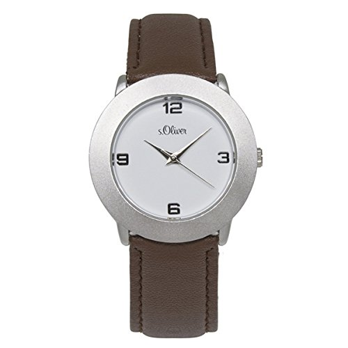 s.Oliver Damen-Armbanduhr Analog Quarz Leder SO-15062-LQR