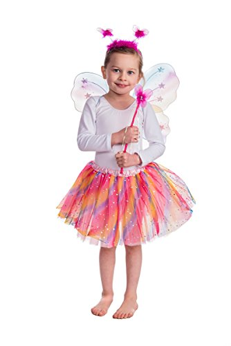 Fairy Princess UK Rainbow Sparkle Fairy Dress Up Set (Rainbow Skirt)