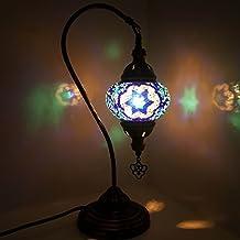 De Turquía Lámpara / Marroquí Lámpara Estilo Tiffany Cristal Escritorio Lámpara De Mesa - W5