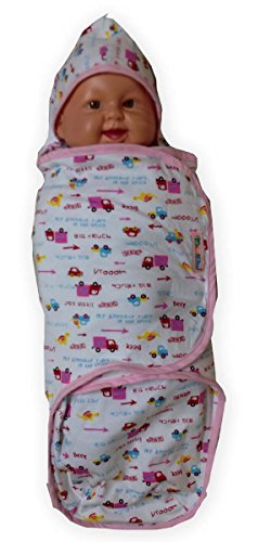 Palm and Pond inch Swaddle inch Baby-Pucksack - Rosa/LKW Design