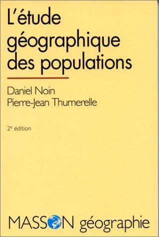 L'étude géographique des populations
