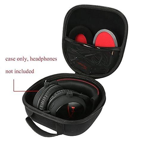 Teckone Portable Etui de voyage Housse pour HyperX Cloud II Casque Gaming Headset Headphone Casque . Mesh Pocket pour autres accessoires