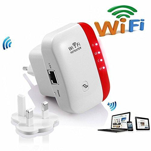 WLAN Repeater 2.4GHz 300Mbps Mini WiFi Router Range Extender Verstärker Accesspoint- Funktion Kompatibel IEEE 802.11b/g/n mit WPS