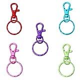 CKB Ltd 10x Multi gemischt Farbige Blanko Schlüsselanhänger Ring mit Karabinerverschluss Craft Kette Ringe Großhand