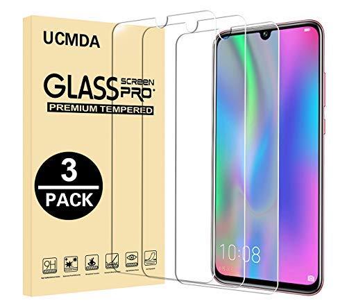 Película de vidro temperado UCMDA para Huawei P 2019 Inteligente / Honra 10 Lite, [3 Pack] HD Transparência [Dureza 9H] Película Protetora Anti-Scratch Para Huawei P 2019 Inteligente / Honra 10 Lite