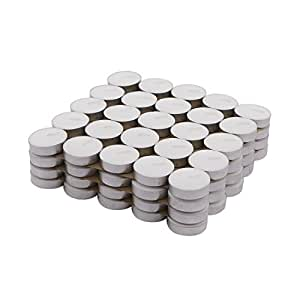 Amazon Brand - Solimo Wax Tealight Candles (Set of 100, Unscented)