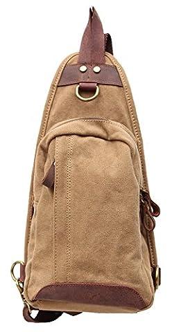 Gootium 40193KA Canvas Chest Bag Shoulder Sling Bag with Genuine