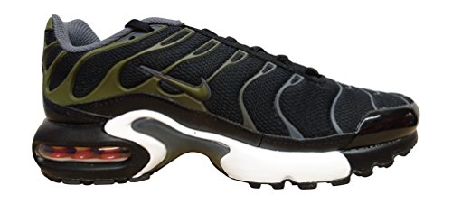 nike air max 1 réglés plus (GS) TN 655020 Baskets Chaussures d'entraînement black legion green dark grey 039