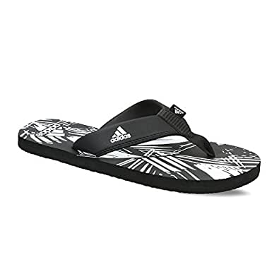 Adidas Men's Inert Black and White Flip-Flops and House Slippers - 6 UK/India (39.33 EU)