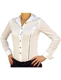 6583 FOLL Body-Blusa, Bata cuerpo, M, L, XL, XXL, manga larga, diseño de escamas, de nuevos.