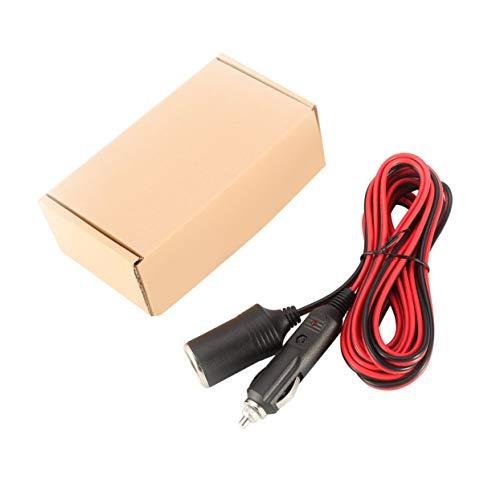 s 12V Auto Zigarettenanzünder Verlängerungskabel 3.6m / 12ft Fused Black & Red Heavy Duty Auto Netzkabel Einfach zu bedienen ()