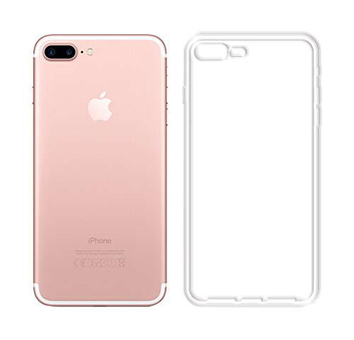 Minto Ultradünn TPU Hülle iPhone 8 Plus / iPhone 7 Plus Silikon Schutzhülle Handyhülle Case Crystal Cover Durchsichtig transparent 0.6mm iPhone 7 Plus