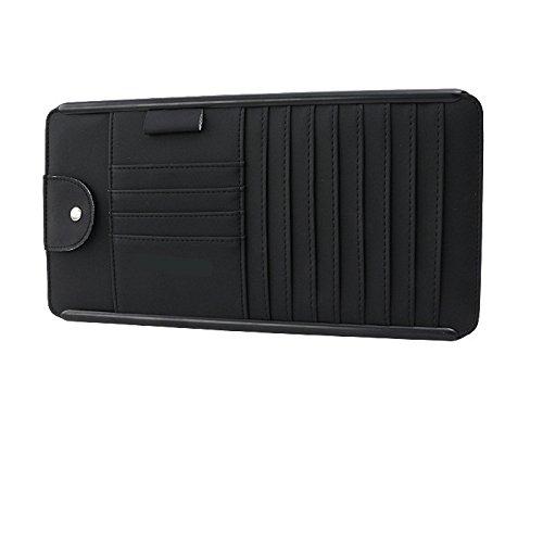 Multifunktions-Karten-Kartenhalter, Auto-CD-Aufbewahrungsbox, Auto-CD-Disc-Paket, Brille Clip, Stift-Speicher-Slot, Größe 315 * 165Mm,Black