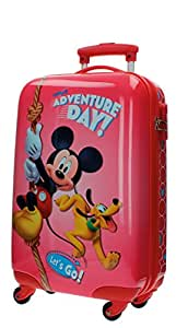 Disney Genuine Ride-on Childrens ABS Hard Shell Suitcase Cabin Case Roller (01 Mickey Play)
