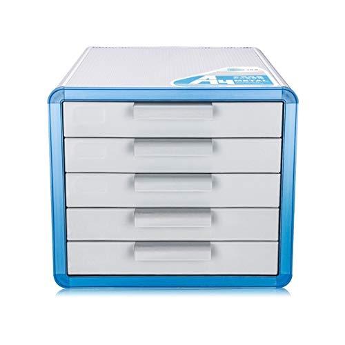 Aluminiumlegierung Schubladen, Schreibtisch Aufbewahrungseinheit Organizer Abschließbare Aktenschrank A4 Box for Büro (Größe: 28,6 * 34,6 * 25,3 cm) (Hängende Ordner Dateien)