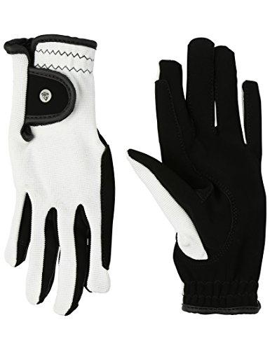RTS Damen REIT Handschuhe Schwarz/Weiß, XS