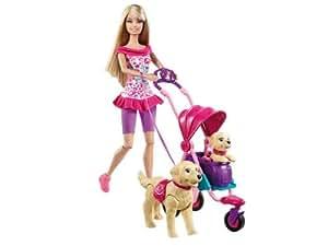 Barbie Estate Strollin Pups