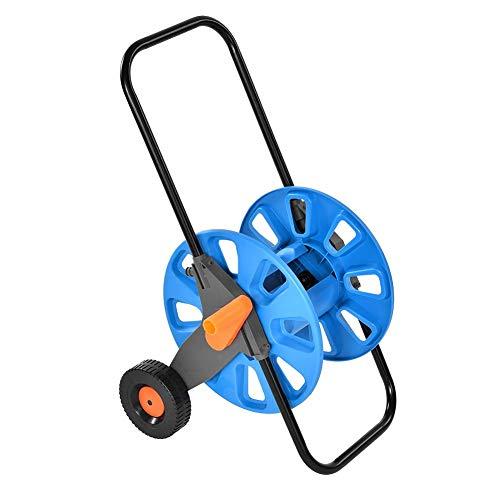 Lyrlody carrello tubo da giardino, carrello avvolgitubo, acciaio inox e alluminio, aniglia pieghevole per irrigazione, con tubo una lunghezza di circa 40-60m metri, 40 * 28.2 * 80cm