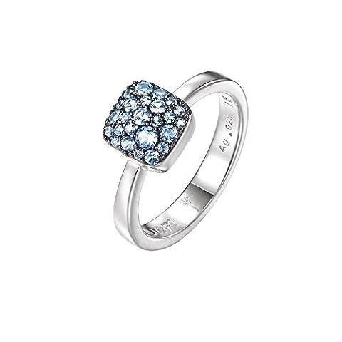 Joop! Damen-Ring JP-M PAVE 925 Silber Glas blau Gr. 54 (17.2)-JPRG90798D170