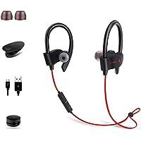 Auricular Bluetooth para deportes, inalámbrico 4.1, oreja colgante, reducción de ruido DSP estéreo