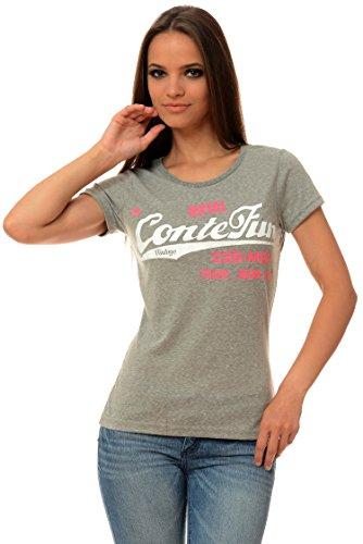 M.Conte Signore T-Shirt Manica Corta T-Shirt Sudore Neon Rosa Viola Grigio Blue Rose Rosso Verde Nero S M L XL Colore Grigio