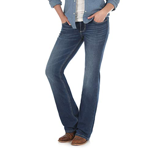 Wrangler Damen Retro Mae Mid Rise Stretch Boot Cut Jeans, Cody, 7W x 34L