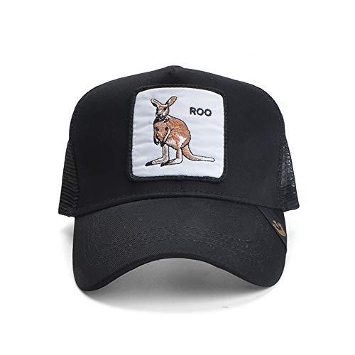 zhuzhuwen Patch Tier große Huhn Stickerei Mesh Cap europäischen und amerikanischen Stil atmungsaktive Männer und Frauen Flut Ente Zunge Hut Reise Sonnenhut 5 56-62cm -