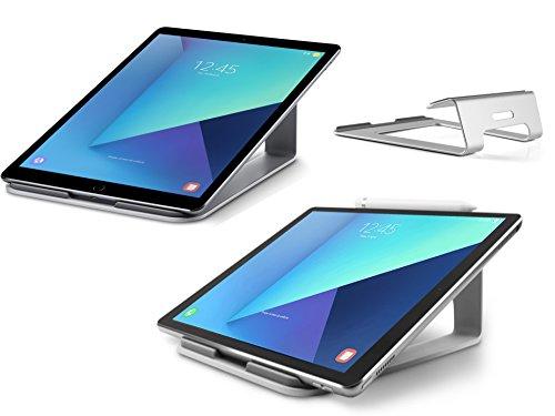 XTAB Tablet Ständer | Für Lenovo IdeaPad Miix 310 10ICR | Aluminium Halter | Tablet Ständer für Büro | LTS 2 Space Grau