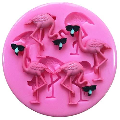 ikonform Flamingos für Kuchendekoration, Kuchen, Cupcake-Topper, Zuckerguss-Werkzeug ()