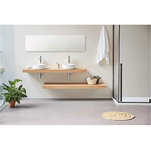 Plan Vasque Suspendu Zero pour Salle de Bain Design, chêne 140 cm