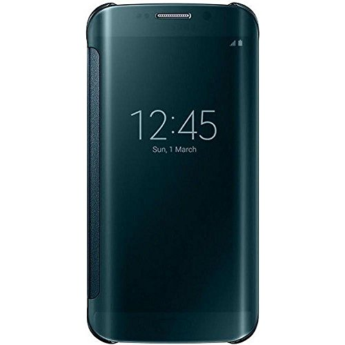 Samsung-Handyhlle-Schutzhlle-Protective-Case-Cover-mit-Clear-View-Klarsicht-Cover-fr-Galaxy-S6-Edge-Grn