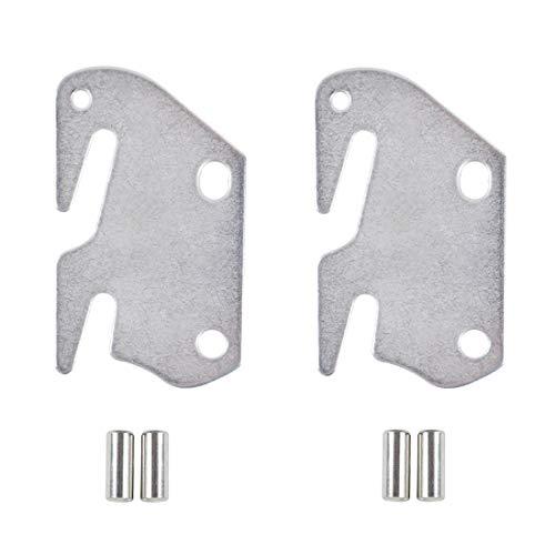 King-size-metall-kopfteil (kilofly 2 Stück Holz Bettgestell Halterung Kopfteil Fußteil #10 Hakenplatte)