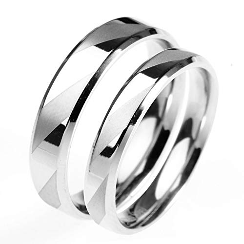 g Partnerringe Herr Der Ringe Verlobungsringe Gold Rose,Silber,Frau:52(16.6)&Mann:52(16.6) ()
