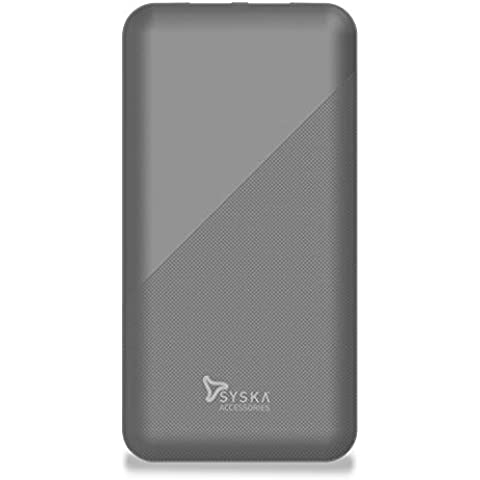 Syska 10000 mAh Li-Polymer P1015B Power Core100 Power Bank (Grey)