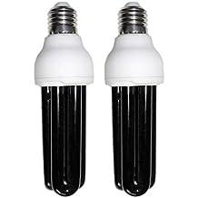 MagiDeal 2 Piezas Bombilla UV Brillate Luz Negra 30w 220V Util para Verificación Análisis Sin Sensibilidad